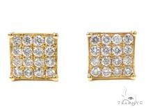 Prong Diamond Earrings 40534 Mens Diamond Earrings