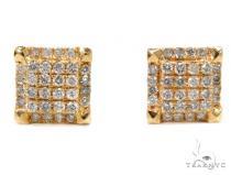 Prong Diamond Earrings 40538 Mens Diamond Earrings