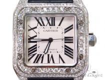 Pave Diamond Cartier Santos 100 Watch 40776 Cartier