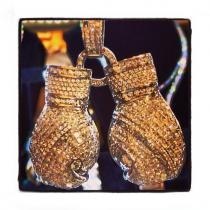 Boxing Gloves Diamond Pendants
