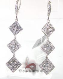 Tetra Earrings レディース ダイヤモンドイヤリング