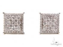 Prong Diamond Earrings 40610 Mens Diamond Earrings
