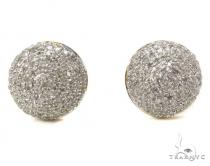 Prong Diamond Earrings 39508 Mens Diamond Earrings