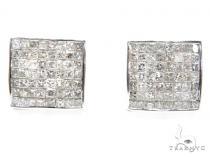 Invisible Diamond Earrings 40644 Mens Diamond Earrings