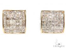 Invisible Diamond Earrings 40643 Mens Diamond Earrings