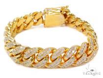 Miami Cuban Diamond Bracelet 40711 メンズ ダイヤモンド ブレスレット