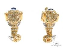 Prong Diamond Hoop Earrings 40895 Stone