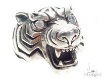 Tiger Diamond Sterling Silver Pendant 40942 Sterling Silver Pendants