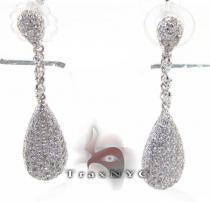 Pear Earrings 3 Stone