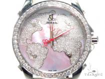 JACOB & Co Five Time Zone Diamond Watch JCM47WP 41010 JACOB & Co ジェイコブ