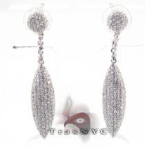 Pave Leaf Earrings レディース ダイヤモンドイヤリング
