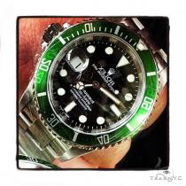 Rolex Submariner Steel Watch Black Dial 41115