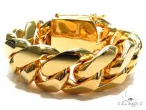 Miami Cuban Gold Bracelet 41126 Gold Mens Bracelets