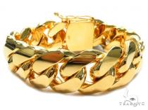 Miami Cuban Gold Bracelet 41128 Gold Mens Bracelets