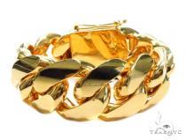 Miami Cuban Gold Bracelet 41127 Gold Mens Bracelets