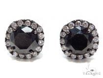 Prong Black Diamond Earrings 41185 Stone