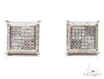 Prong Sterling Silver Earrings 41195 Metal