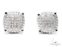 Prong Diamond Earrings 41199 Mens Diamond Earrings