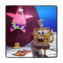 Custom Jewelry - Sponge Bob Pendant Diamond Pendants