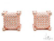 Zirconia Silver Earrings 41285 Metal
