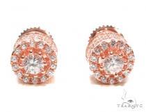Cubic Zirconia Sterling Silver Earrings 41289 Metal