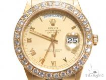 Pave Diamond Rolex Day Date Watch 41412