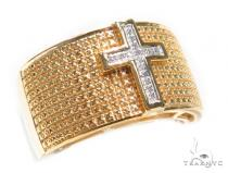 Cross Diamond Silver Ring 41454 Metal