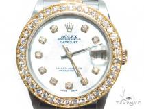 Pave Diamond Datejust Rolex Watch 41588 ロレックス レディース