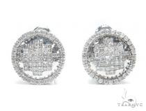 Prong Diamond Earrings 41628 Stone