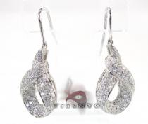 Ribbon Earrings レディース ダイヤモンドイヤリング
