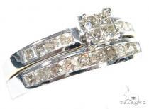 Invisible Diamond Engagement Ring Set 41743 Engagement