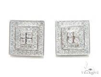 Prong Diamond Earrings 41753 Mens Diamond Earrings