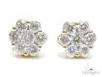 Cluster Diamond Earrings 41756 Stone
