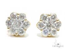 Cluster Diamond Earrings 41756 Stone