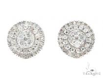 Prong Diamond Earrings 41757 Stone