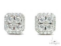 Prong Diamond Earrings 41759 Stone