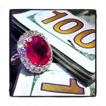 Ruby Island Ring 7 ジェムストーン ダイヤモンド リング