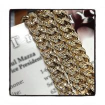 Prong Diamond 14K Cuban Chain 22 Inches 6mm 56 Grams Diamond