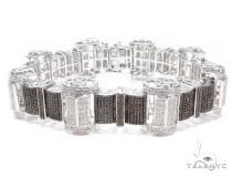 Prong Diamond Sterling Silver Bracelet 41777 Sterling Silver Bracelets