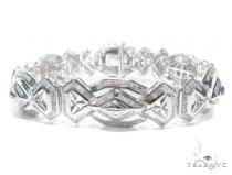 Prong Diamond Sterling Silver Bracelet 41781 シルバー ブレスレット