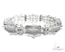 Prong Diamond Sterling Silver Bracelet 41780 シルバー ブレスレット