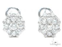 Cluster Prong Diamond Earrings 41858 Stone