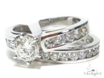 Prong Diamond Engagement Ring Set 41853 Engagement