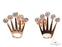 Bezel Crown Diamond Earrings 41945 Mens Diamond Earrings