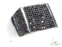 Prong Black Diamond Ring 42009 Mens Black Diamond Rings