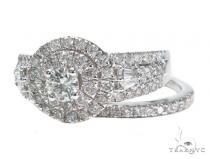 Prong Diamond Engagement Ring Set 42093 Engagement