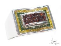 Invisible Color Diamond Ring 42136 Stone