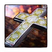 Invisible Diamond Cross 42086 Mens Diamond Cross