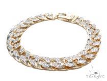 Prong Miami Cuban Diamond Bracelet 42392 Diamond