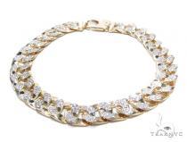 Prong Miami Cuban Diamond Bracelet 42391 メンズ ダイヤモンド ブレスレット